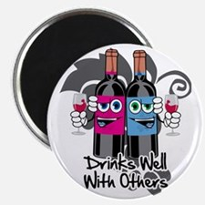Drinks-Well-With-Others-blk Magnet