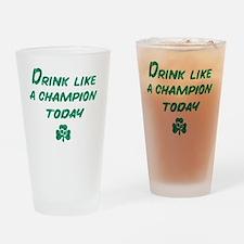 Drink_shirt_gr Drinking Glass