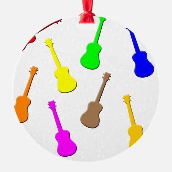 rainbow ukulele Ornament