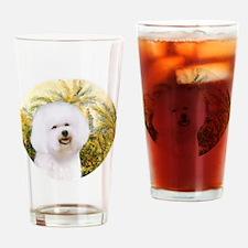 J-ORN-Morning-Bichon1 Drinking Glass