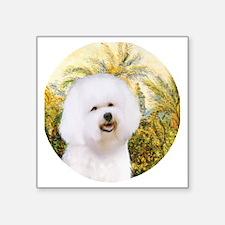 "J-ORN-Morning-Bichon1 Square Sticker 3"" x 3"""