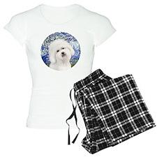J-ORN-Lilies6-Bichon3 Pajamas