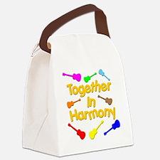 rainbow ukulele ukes Canvas Lunch Bag