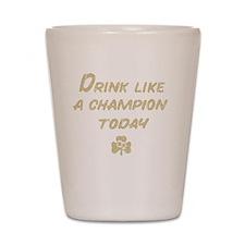 Drink_shirt_gold Shot Glass