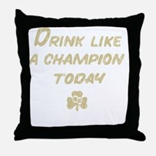 Drink_shirt_gold Throw Pillow