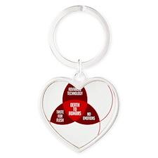 venn_wt_10x10 Heart Keychain