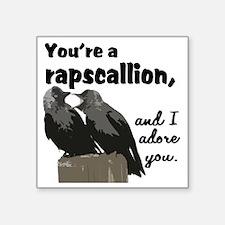 """rapscallion adore Square Sticker 3"""" x 3"""""""