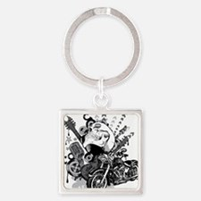 Rock the skull Square Keychain