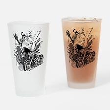 Rock the skull Drinking Glass