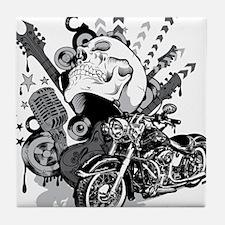 Rock the skull Tile Coaster