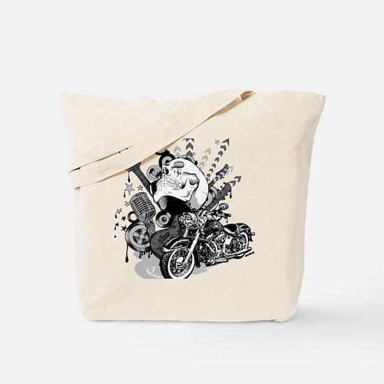 Rock the skull Tote Bag