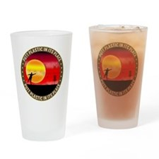 june11_putt_plastic_red_sun Drinking Glass