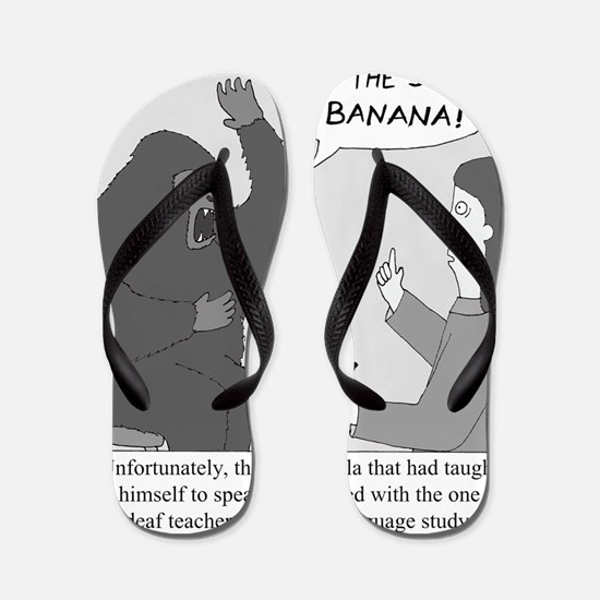 Gorilla Sign Language Flip Flops