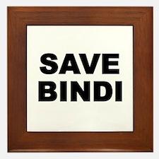 SAVE BINDI Framed Tile