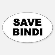SAVE BINDI Oval Decal