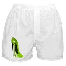 Lime Green Stiletto Shoe Art Boxer Shorts