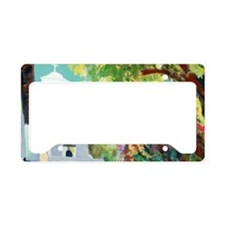 mission sd acala courtyard 14 License Plate Holder