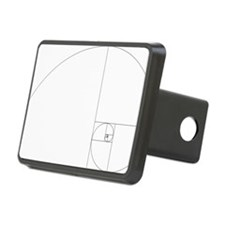 Fibonacci_spiral Hitch Cover