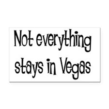 not everything vegas solid Rectangle Car Magnet