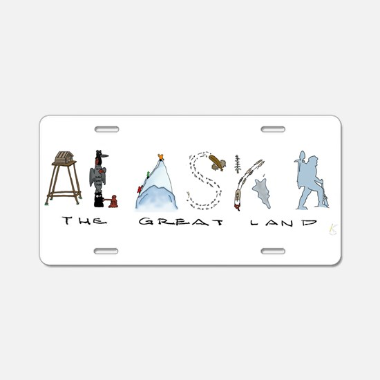 The Great Land - Color Aluminum License Plate