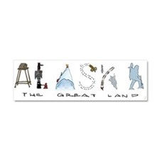 The Great Land - Color Car Magnet 10 x 3