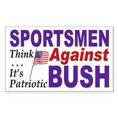 Sportsmen Against Bush (bumper sticker)