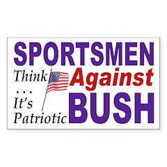 Sportsmen Against Bush (bumper sticker)