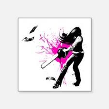 "CASUAL FRIDAY pink splash b Square Sticker 3"" x 3"""