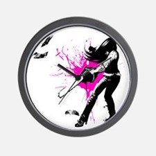 CASUAL FRIDAY pink splash by Ursula Wil Wall Clock