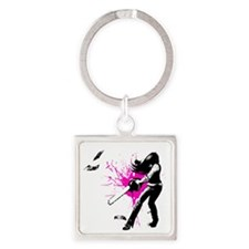 CASUAL FRIDAY pink splash by Ursul Square Keychain