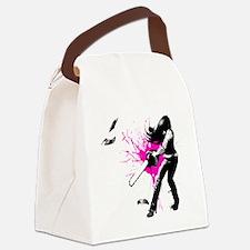 CASUAL FRIDAY pink splash by Ursu Canvas Lunch Bag