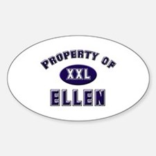 Property of ellen Oval Decal