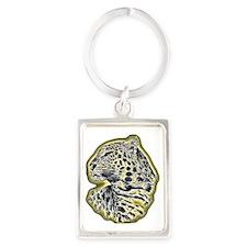 leopard-NEON-CROP Portrait Keychain