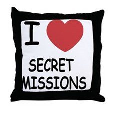 SECRET_MISSIONS Throw Pillow