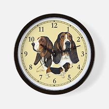 Basset Clock Wall Clock