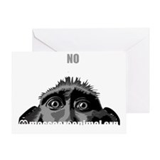 singe-black-en-front Greeting Card