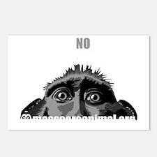 singe-black-en-front Postcards (Package of 8)