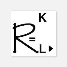 "geeksrcool_WK Square Sticker 3"" x 3"""