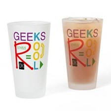 geeksrcool_multi Drinking Glass