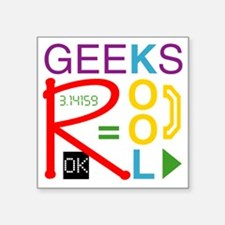 "geeksrcool_multi Square Sticker 3"" x 3"""