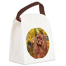 J-ORN-JapaneseFootBridge-RubyCava Canvas Lunch Bag