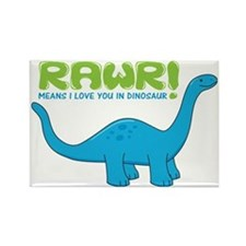 rawrdino Rectangle Magnet