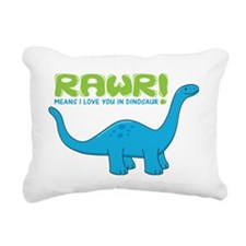 rawrdino Rectangular Canvas Pillow