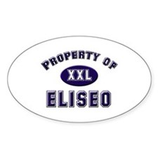 Property of eliseo Oval Decal