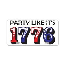 1776 Aluminum License Plate