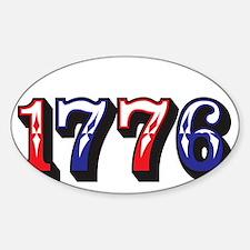 1776 dark Sticker (Oval)