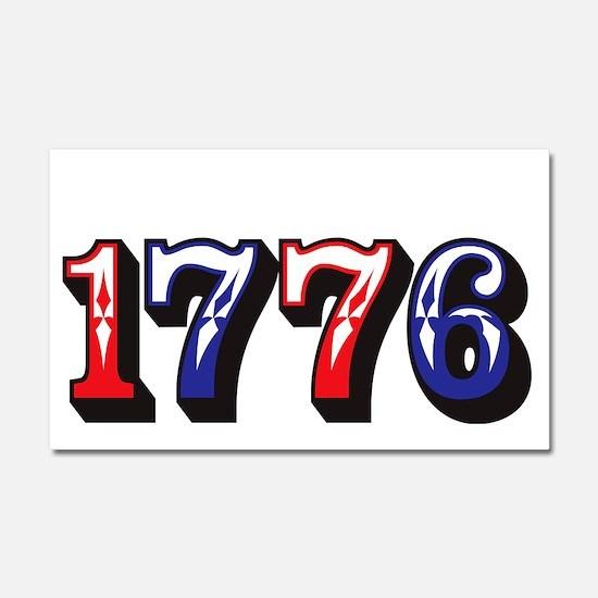 1776 dark Car Magnet 20 x 12