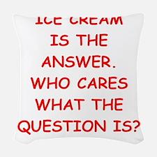 ice cream Woven Throw Pillow