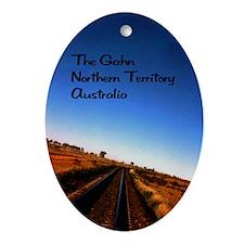 Gahn Railroad5.5x8.5 Oval Ornament
