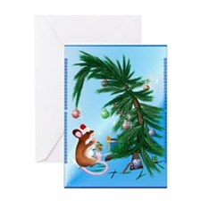 Humble Little Christmas Mouse Greeting Cards